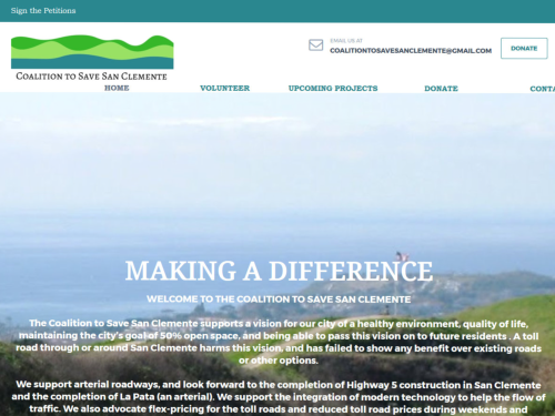 Coalition to Save San Clemente Website