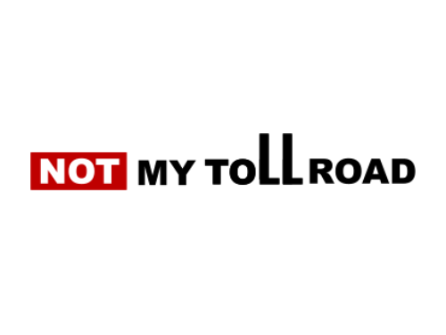 Not My Toll Road Custom Logo Design