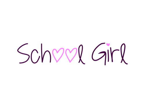 School Girl Custom Logo Design